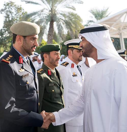 Abu Dhabi Crown Prince Receives National Defense College Delegation