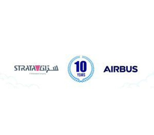 Airbus, Strata Celebrate 10 Years of Partnership