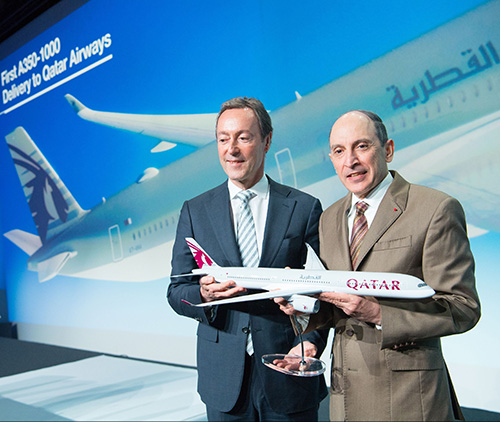 Airbus Delivers World's First A350-1000 to Qatar Airways