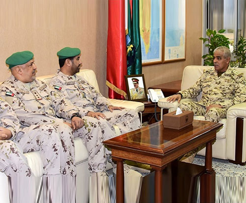 Bahrain's Chief-of-Staff Receives Senior Peninsula Shield Force Officers