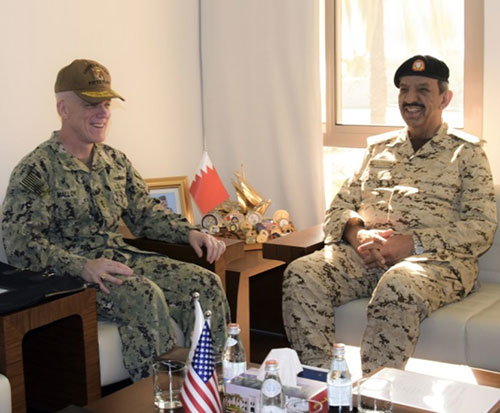 Bahrain's Commander-in-Chief Receives Commander of US Naval Forces