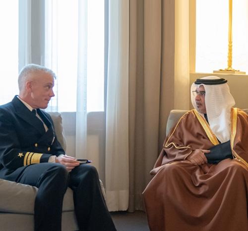 Bahrain's Crown Prince Meets New 5th Fleet Commander