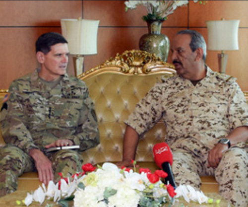 Bahrain's Defense Chief Receives Commander of US Central Command