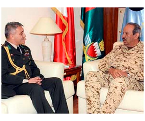 Bahrain's Defense Chief Receives New Turkish, Kuwaiti Attachés