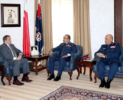 Bahrain's Interior Minister Receives Director of Interpol Washington