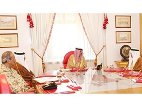 Bahrain's King Receives Crown Prince, Commander-in-Chief