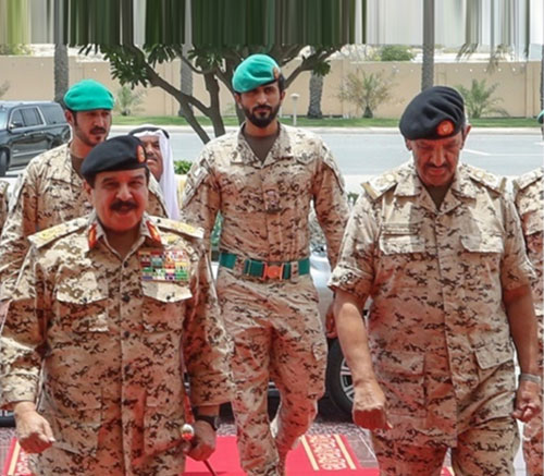 Bahrain's King Visits General Command of Defense Force