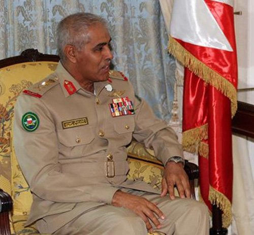 Bahrain Chief-of-Staff Receives Peninsula Shield Force Commander