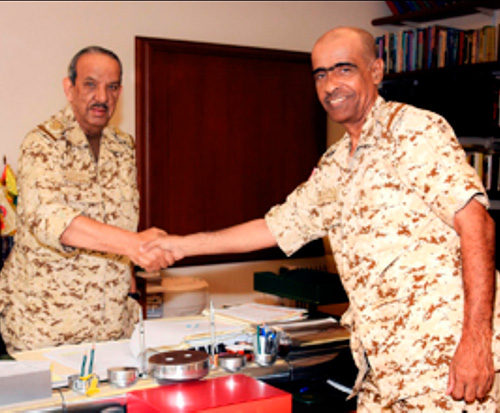 Bahrain Defense Chief Receives Combat Group Commander
