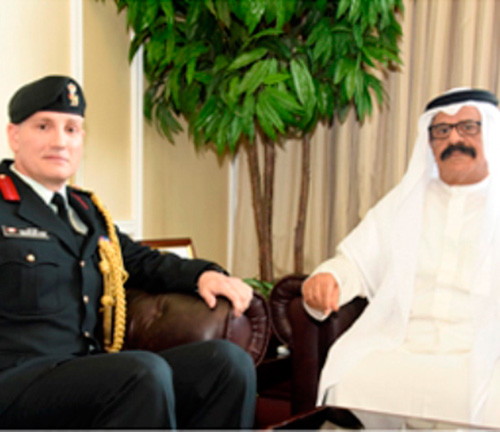 Bahrain Defense Minister Receives Canadian Military Attaché