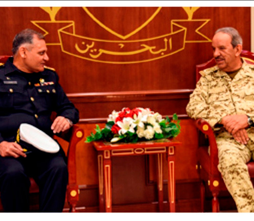 Bahrain Receives Pakistan Naval War College Delegation