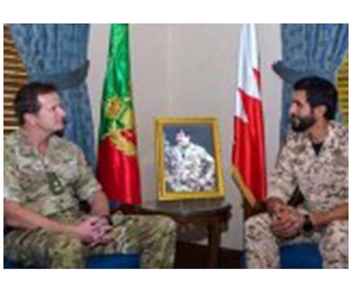Bahrain Royal Guard Commander Receives Sandhurst Commandant