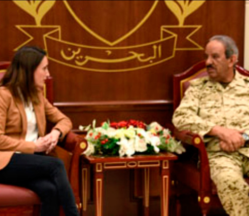 Bahrain's Commander-in-Chief Receives US Delegation