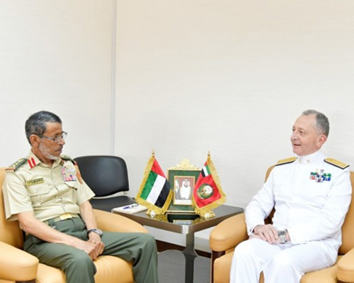 Chief of Italian Navy Meets Top UAE Military Officials