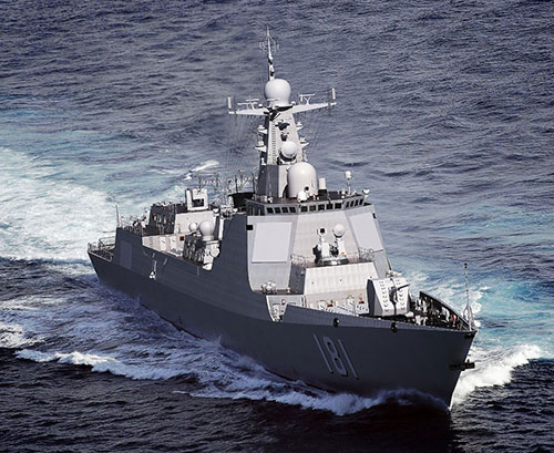 China Launches Two New Guided Missile Destroyers