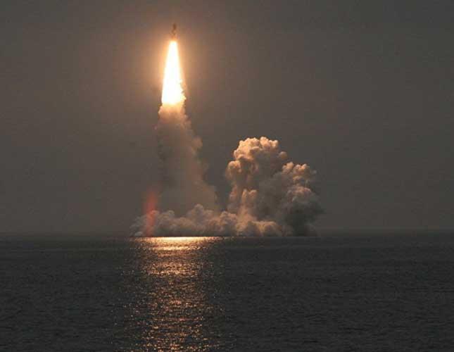 Russia Tests Sea-Based Bulava Ballistic Missile