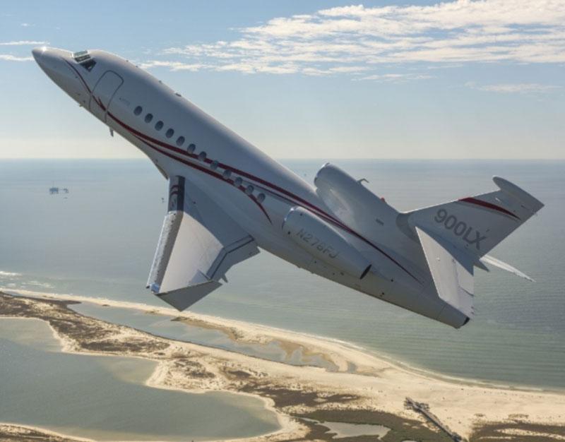 Dassault Aviation's Long Range Falcon 900LX at the International Marrakech Air Show