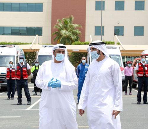 Dubai Crown Prince Visits Security & Service Departments
