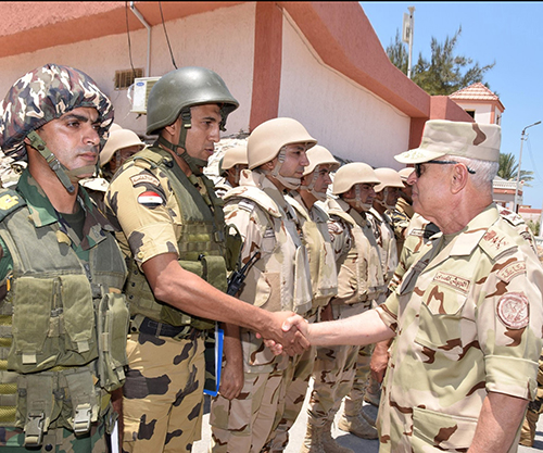 Egypt's Chief-of-Staff Inspects Security Checkpoints in Sinai
