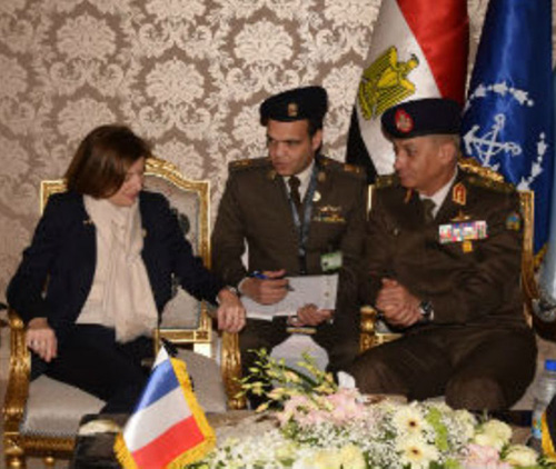 Egypt's Defense Minister Meets International Counterparts at EDEX