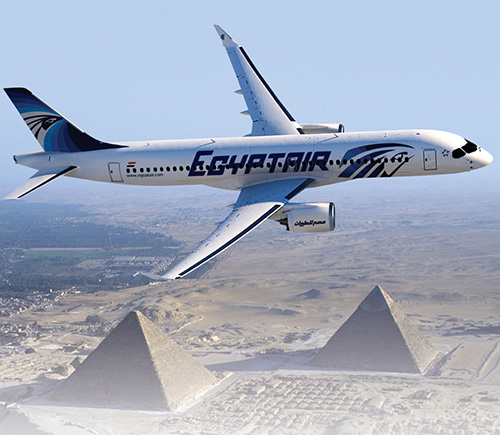EgyptAir, Bombardier Finalize Order for 12 CS300 Aircraft