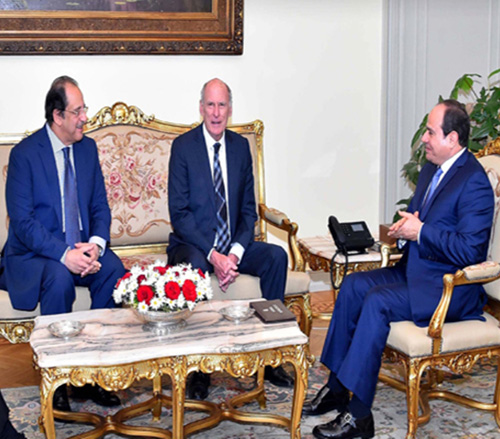 Egyptian President Receives US National Intelligence Director