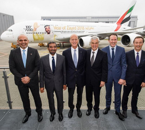 Emirates Receives 100th A380 Aircraft