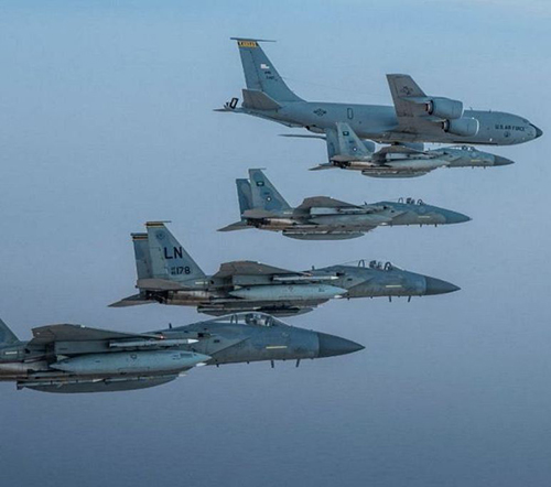 F-15C Eagles of Saudi, U.S. Air Forces Fly in Formation