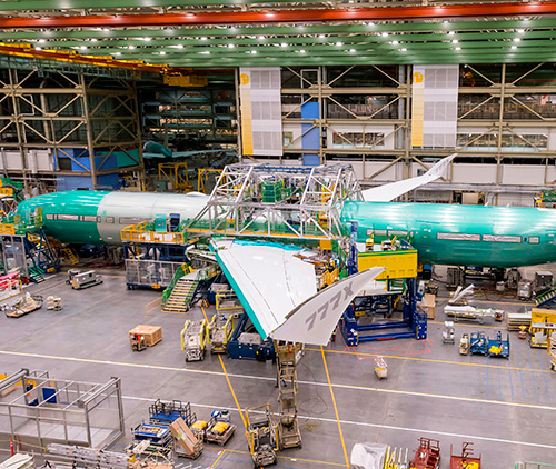 First Boeing 777X Flight Test Airplane Comes Together