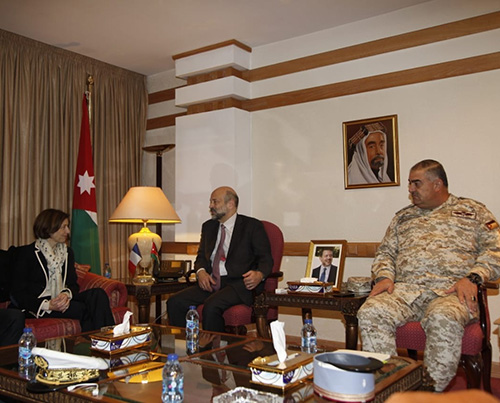 French Minister of the Armed Forces Visits Jordan