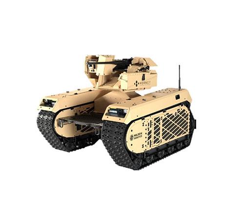 Hornet, Milrem Robotics Exhibit New Combat UGV at DSEI 2021