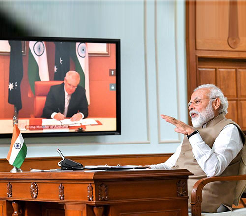 "India, Australia Sign ""Strategic Logistics Support"" Pact"