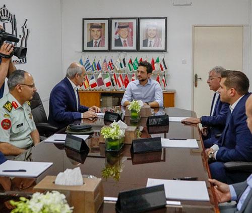 Jordanian Crown Prince Visits KADDB Workshops