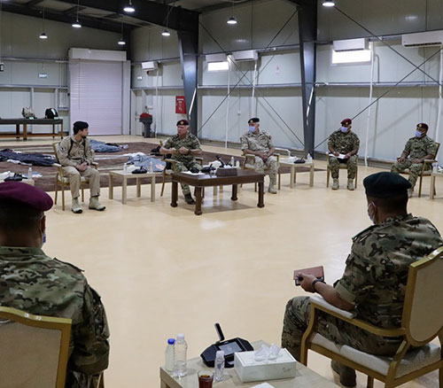 Jordanian King Meets Armed Forces Unit Commanders