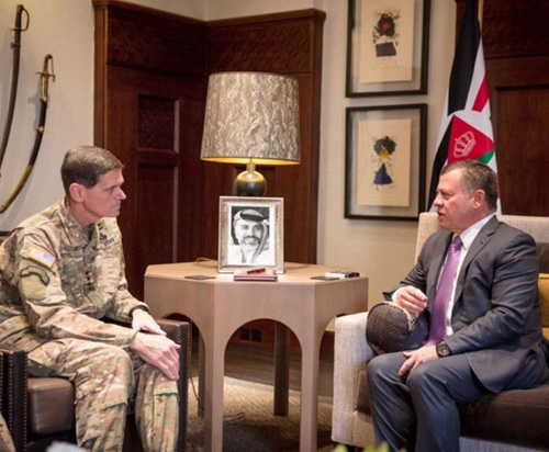Jordanian King Meets Commander of U.S. Central Command