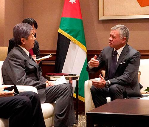 Jordanian King Meets Japanese Defense Minister