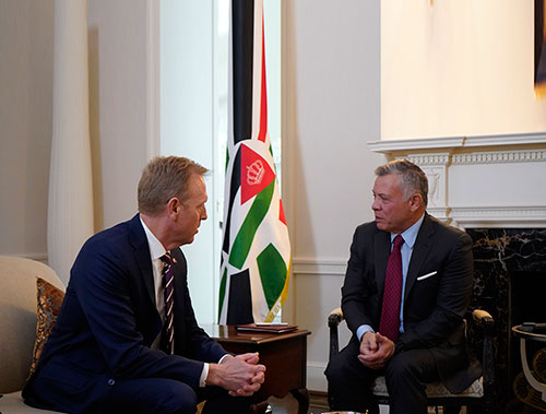 Jordanian King Meets US Defense, Security Officials