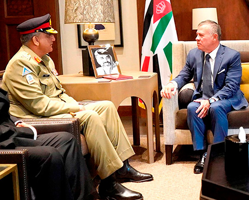 Jordanian King Receives Pakistan Army Chief
