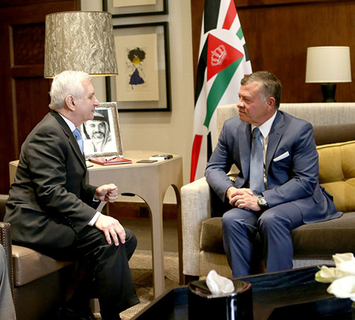 Jordanian King Receives Two U.S. Military Delegations