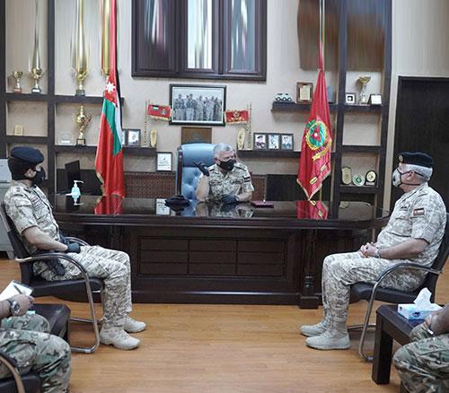 Jordanian King Visits King Hussein bin Ali Brigade Command