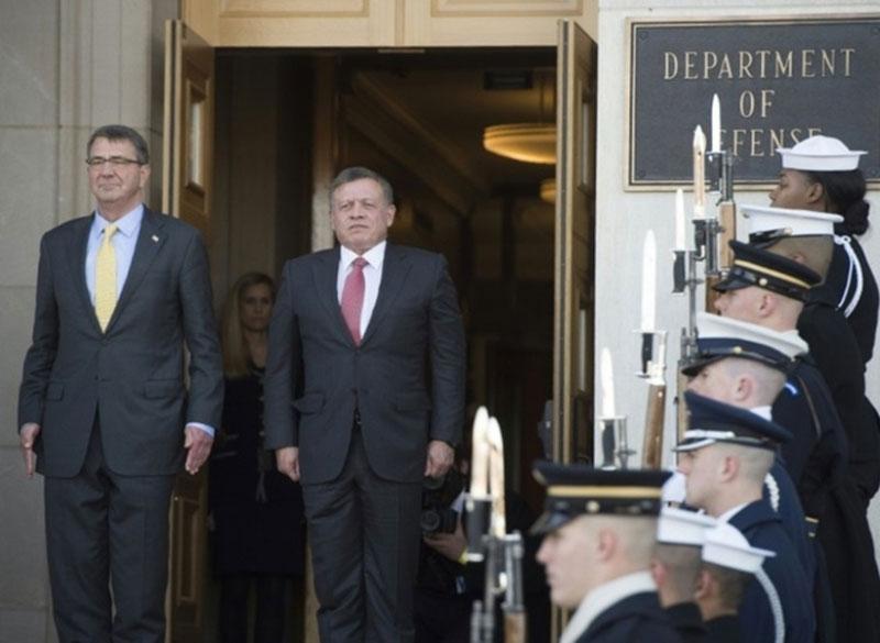 Jordan's King Abdullah II Meets US Defense Secretary