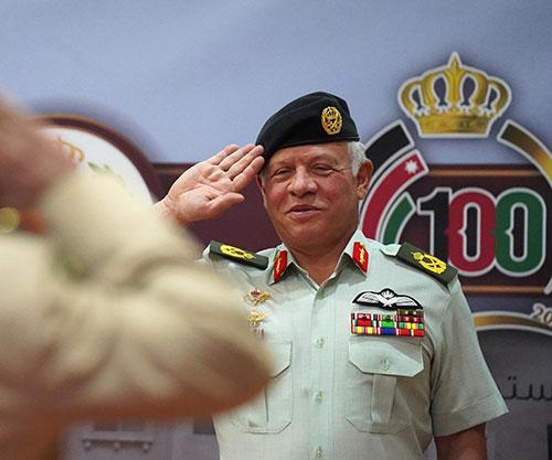 King Attends Royal Jordanian National Defense College Graduation