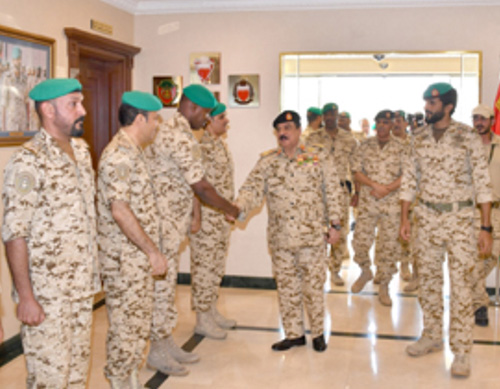 King of Bahrain Visits Royal Guard Headquarters