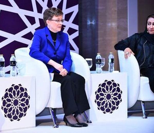 Lockheed Martin's Lorraine Martin Speaks at the Women in Industry Forum in Abu Dhabi