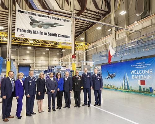 Lockheed Martin Hosts Bahrain Ambassador at F-16 Production Line