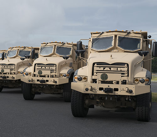 Mack Defense Starts Production Test of U.S. Army's Armored Heavy Dump Trucks