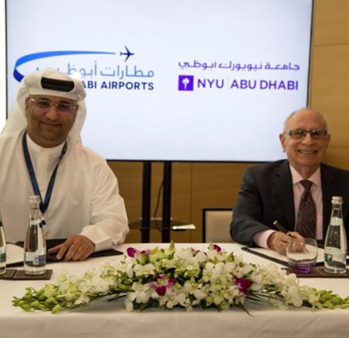 NYU Abu Dhabi Signs MoU With Abu Dhabi Airports