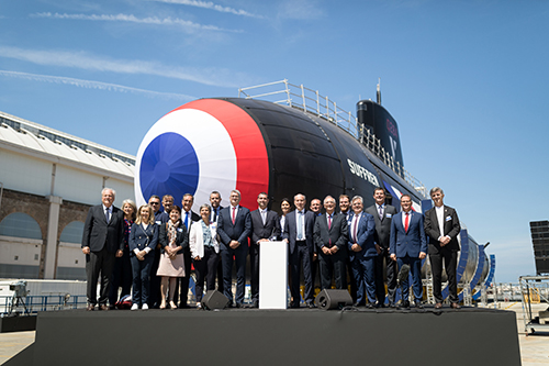 Naval Group Launches Suffren Nuclear Submarine