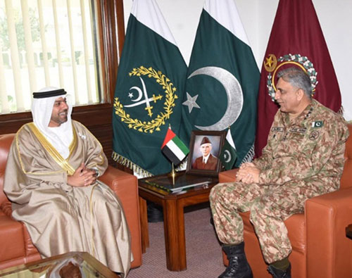 Pakistan's Chief of Army Staff Receives UAE Ambassador