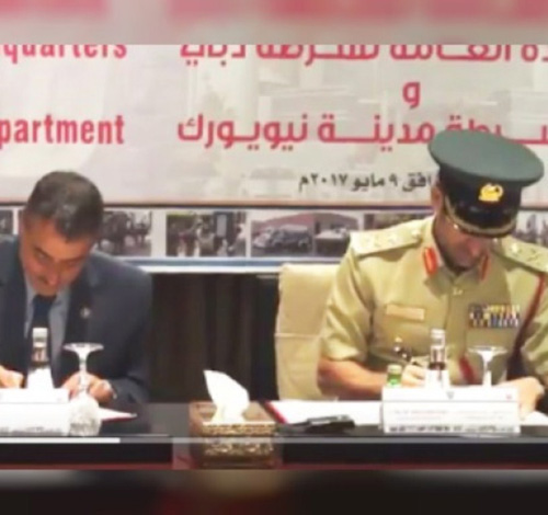 Dubai Police, NYPD Sign MoU for Joint Training